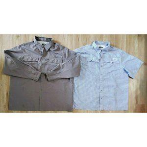 Habit Mens Lot of 2 40 Solar Factor Shirts XXL